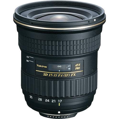 Lente Tokina AT-X 17-35 F4 PRO FX, Full Frame, para Nikon F