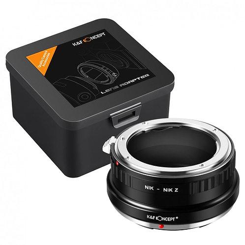 Adaptador manual K&F NIK-NIK Z, lentes Nikon F en cámara Nikon Z