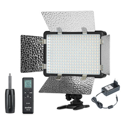Luz continua LED + Flash Godox LF308Bi Bicolor + Adaptador AC