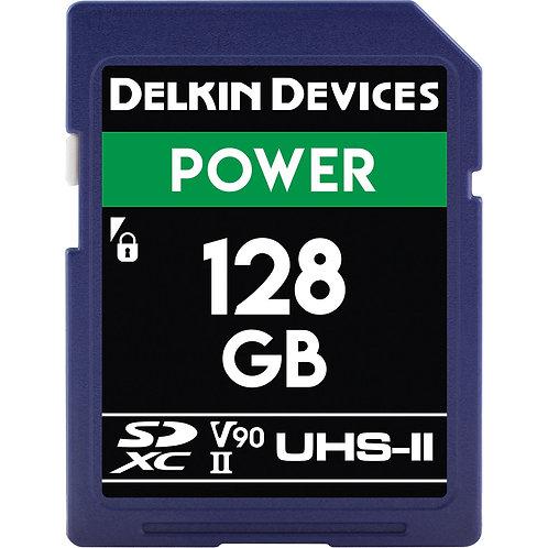 Memoria SD Delkin Devices 128 GB POWER UHS-II SDHC, V90, U3, Class 10, 300 MB/s