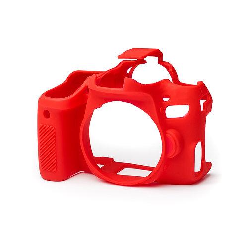 Carcasa easyCover Canon 77D, Rojo + Mica