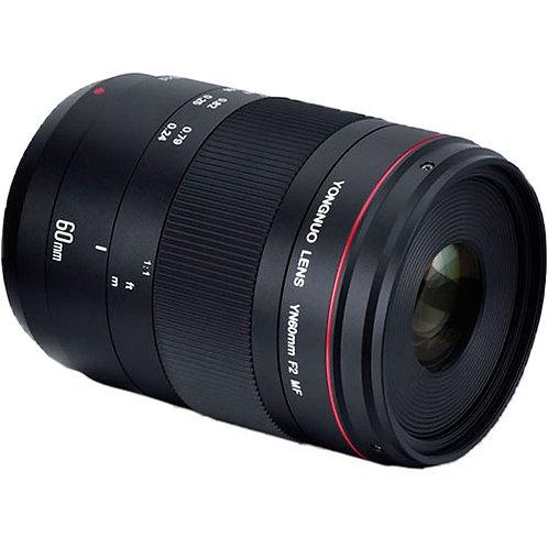 Lente Yongnuo YN60mm F2NE MF Macro para Nikon