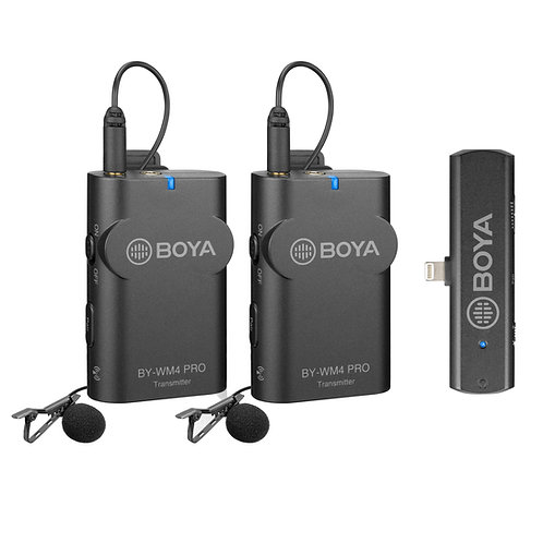 Micrófonos inalámbricos Boya BY-WM4 PRO K4 con conector Lightning para Apple iOS