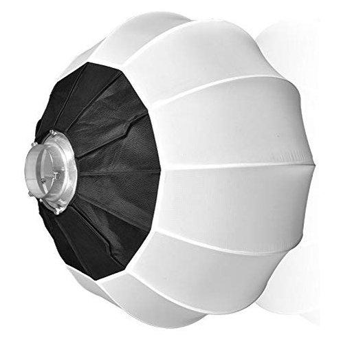Softbox esferico de 80cm de diametro, acople Bowens, armado rapido