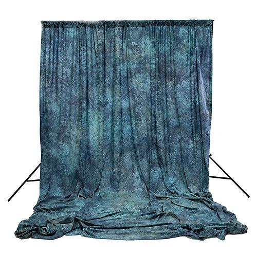 Muselina de algodón texturizada Savage Apex Blue, 3.05 x 3.66 m.