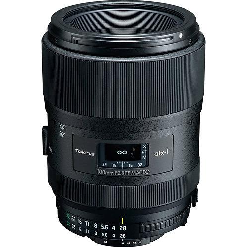 Lente Tokina ATX-i 100mm F2.8 FF MACRO, Full Frame, para Nikon F