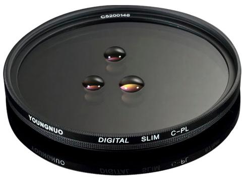 Filtro Circular Polarizado Yongnuo C-PL SLIM 72mm