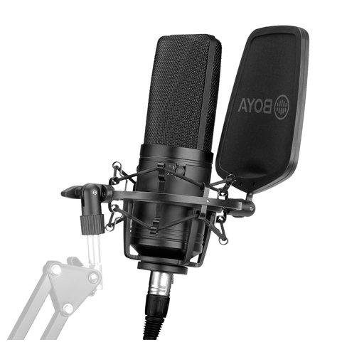 Micrófono condensador de gran diafragma Boya BY-M1000 conexión XLR