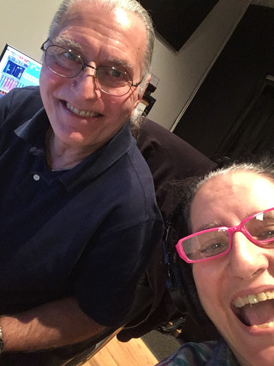 Dave Darlington mixes and masters with Sue at Bass Hit Recording, NYC