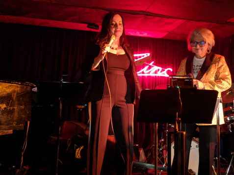"Lauren Kinhan and Janis Siegel perform ""Valentine's Day For One"" with Sue at Zinc Bar in Jan. 2020"
