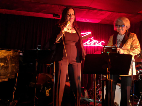 """Lauren Kinhan and Janis Siegel perform """"Valentine's Day For One"""" with Sue at Zinc Bar in Jan. 2020"""