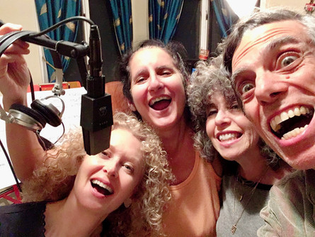 """Part of """"The Dire Choir"""" records """"March of the Refugee (Dire.)"""" Nancy Ruth, Sue, Mindye Fortgang, and Luiz Simas"""