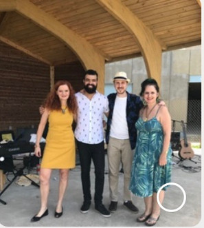 Cecilia Tenconi, Wesley Amorim, Samuel Martinelli and Sue perform in Long Branch, NJ, Memorial Day 2019
