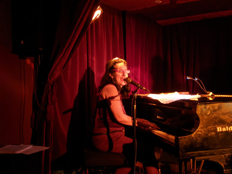 """Sue performs """"Valentine's Day For One"""" at Zinc Bar in January 2020."""