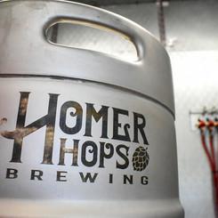 Homer Hops Brewing keg
