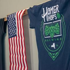 Homer Hops blue t-shirt
