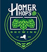 Homer Hops Brewing logo with three green hops