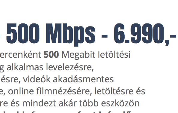 XL INTERNET - 500 Mbps