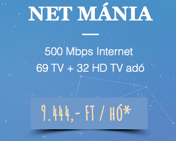 NET MÁNIA - 67+27HD + 500 Mbps