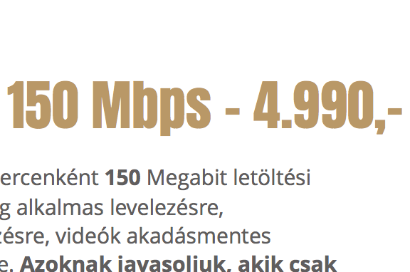 M INTERNET - 150 Mbps