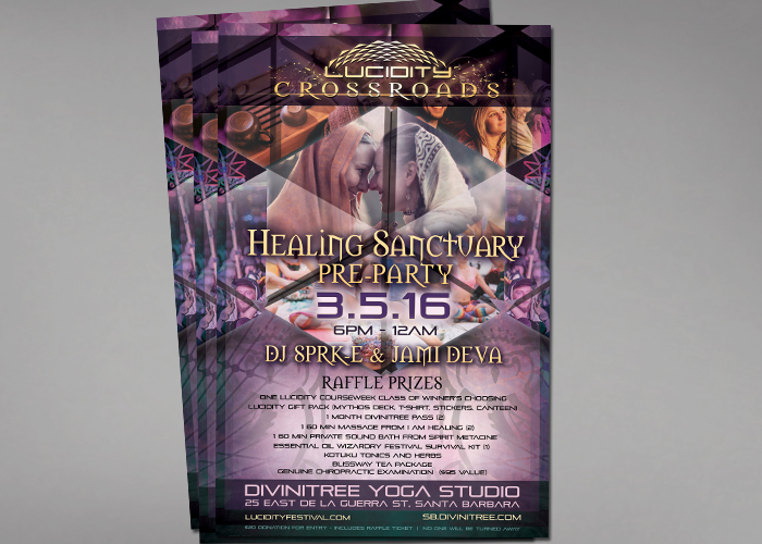 Lucidity Pre-Party Event Poster