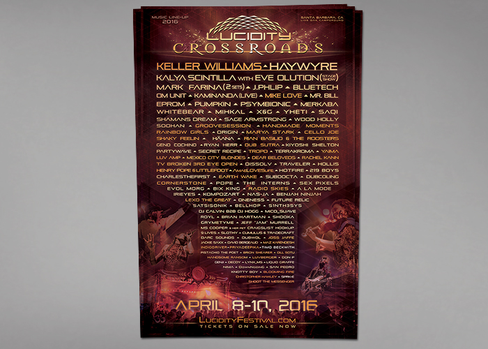 Lucidity 2016 Lineup Poster