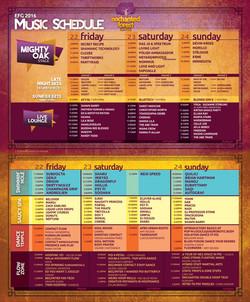 EFG16 Music Schedule