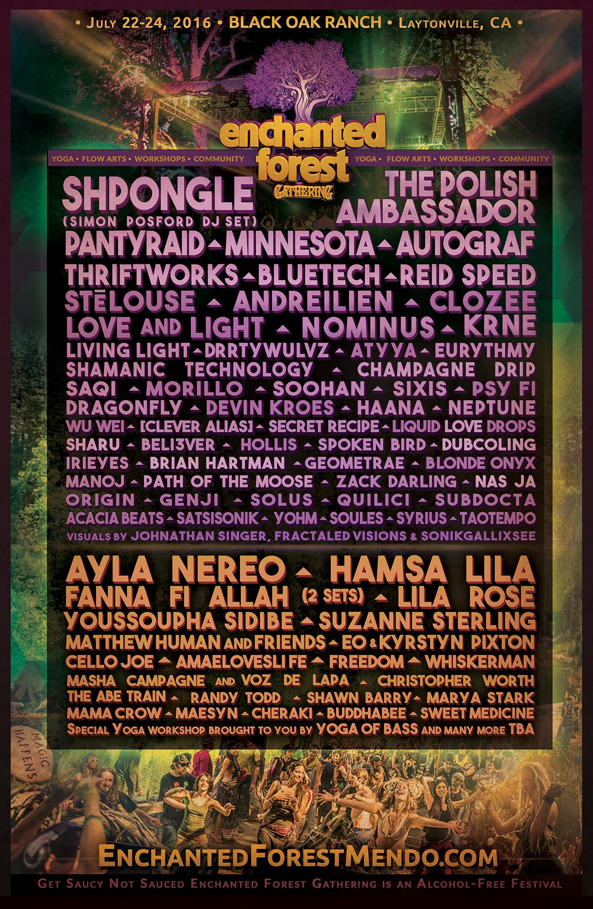 EFG 2016 Line-Up Poster