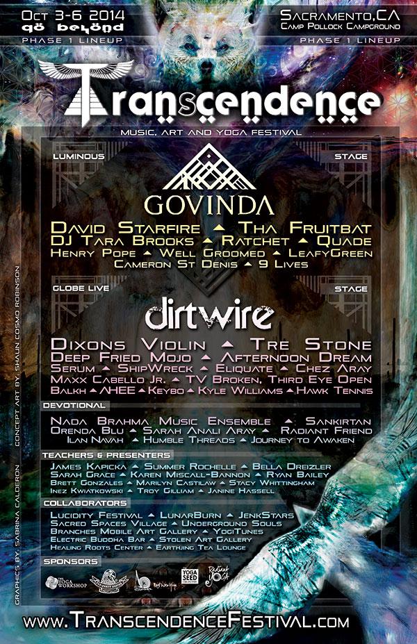Transcendence Line-Up Poster