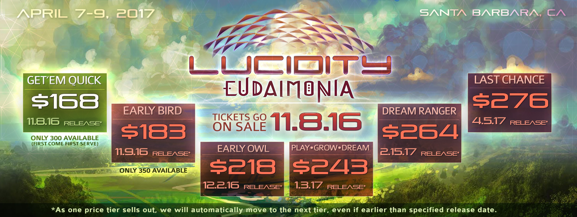 Lucidity 2017 Tix Tier Graphic