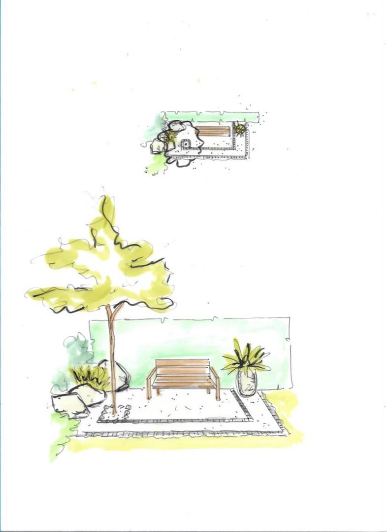 PuikHoveniers Bench Tuinontwerp