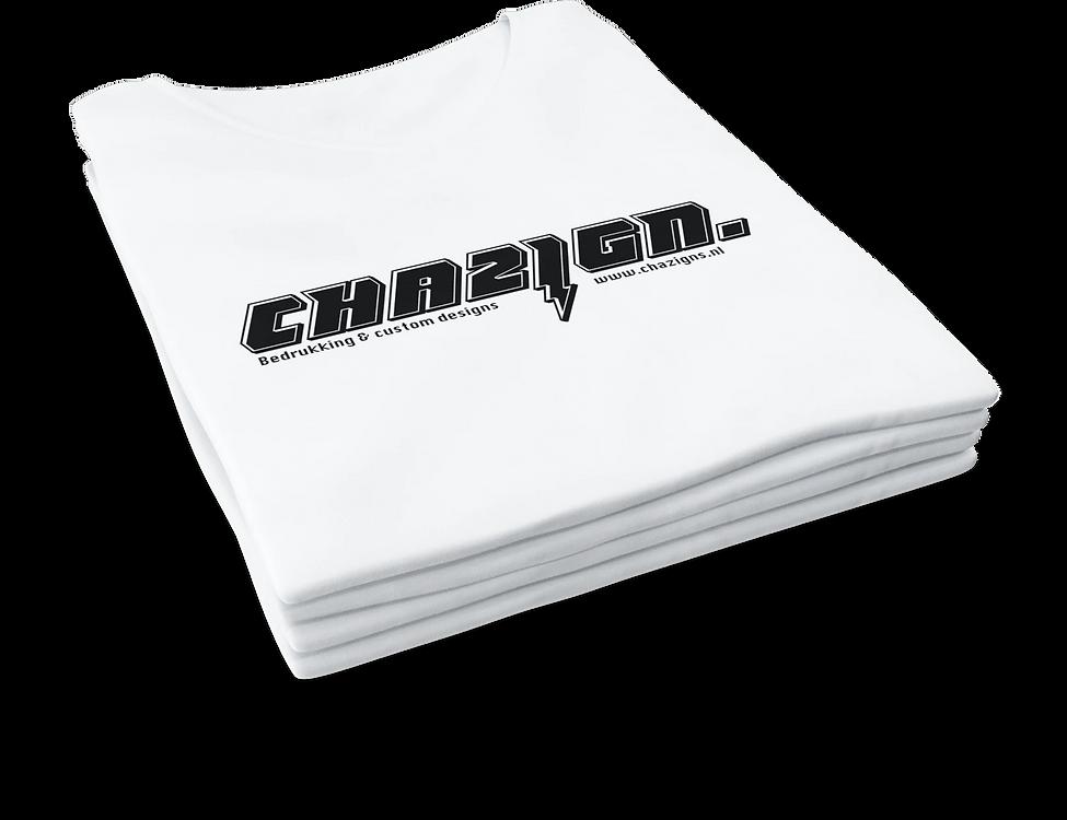 Chazign wit t-shirt bliksem