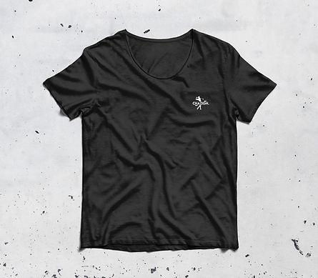 Chazign zwart t-shirt golf approach your targets voorkant