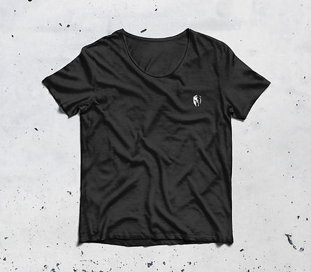 Chazign zwart t-shirt stherk x chazign gymwear voorkant