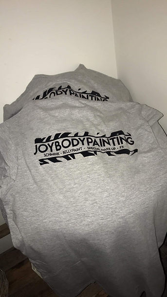 Bedrukte t-shirts joybodypainting almere