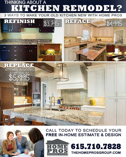 Home Pros Remodel Group Middle Tennessee Kitchen Bathroom - Bathroom remodel specials
