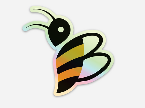 BINX Hologram Glitter Bee Sticker