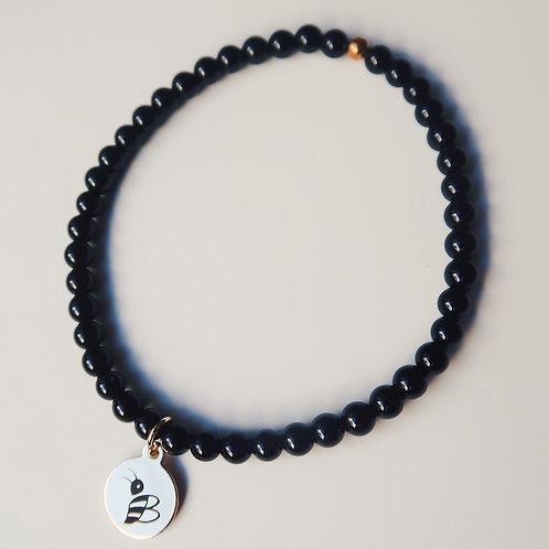 Onyx/Crystal Buzzed Bracelet