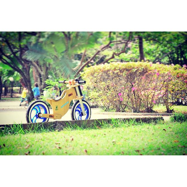Bicicleta sem pedal BBike na praca