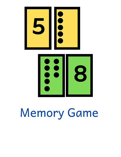 Classic Memory Game - Number Recognition