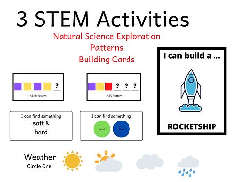 3 STEM Game BUNDLE - Science Activities, Patterns, Engineering