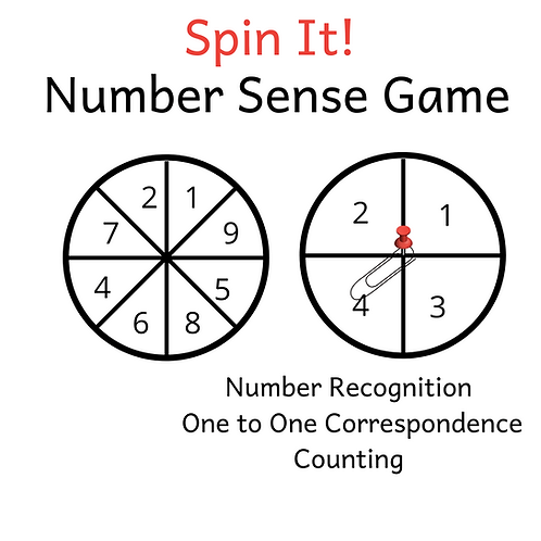 Spin It Game - Number Recognition
