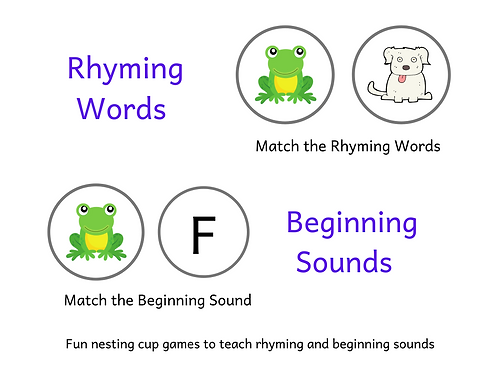 Pre Reading Skills - Rhyming and Beginning Sounds