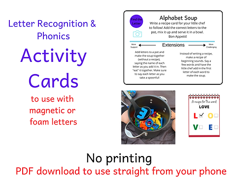 Activity Cards - Letter Recognition & Phonics