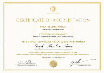 Film Industry Membership - Certification