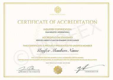 UNOFEX Membership Certification General
