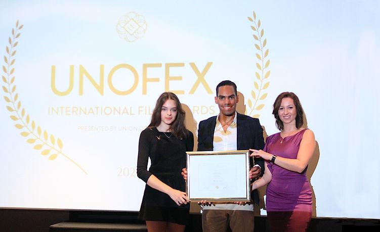 UNOFEX Film Awards Ceremony with Viktori