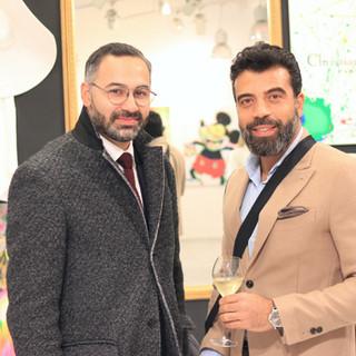 Nawid Teherani and Moe Nassif at the Moira Musio Exhibition