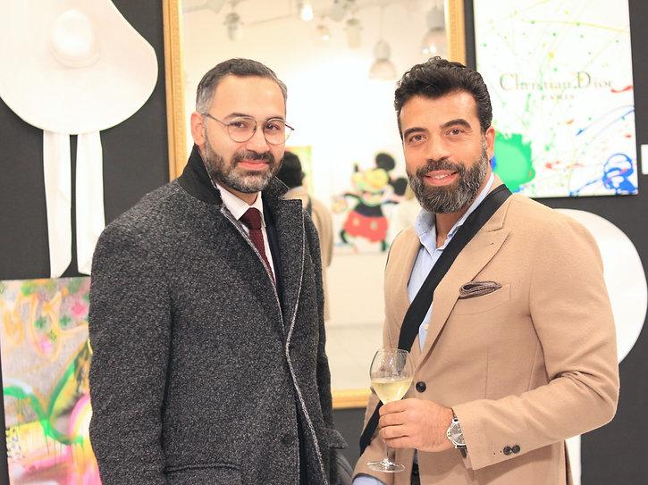 Nawid Teherani and Moe Nassif at the Art