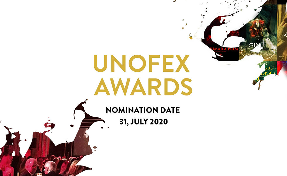 UNOFEX Awards letter 2020